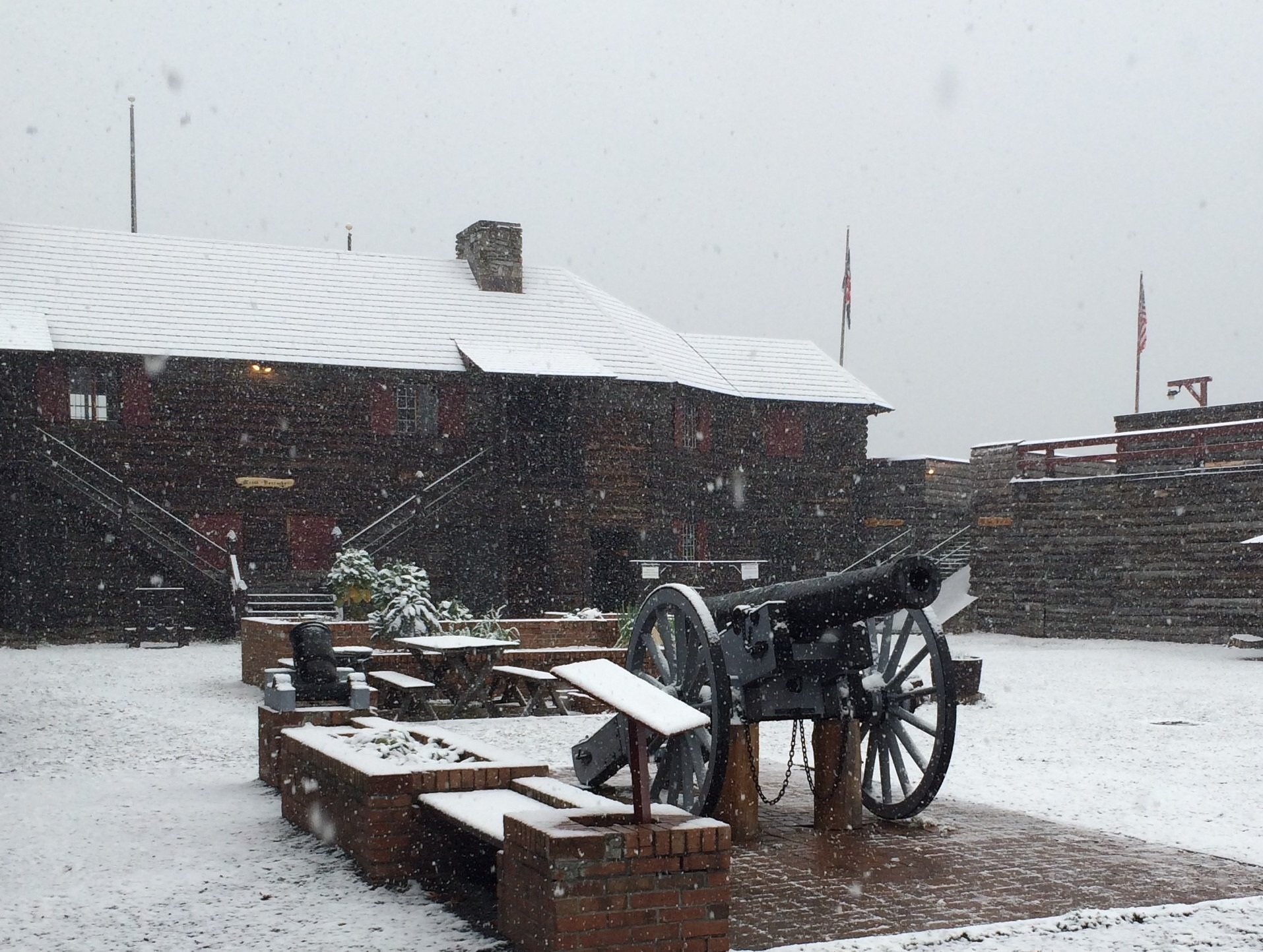 cannon in snow
