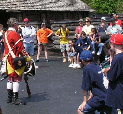 School group during tour of Fort William Henry